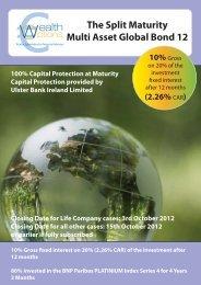 Wealth Options Split Maturity Multi Asset Global Bond 12 - Adelphi ...