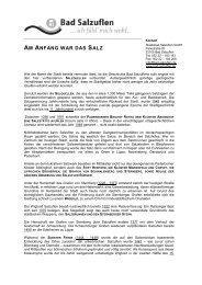 AM ANFANG WAR DAS SALZ - Staatsbad Salzuflen