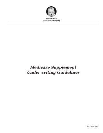 Medicare Supplement Underwriting Guidelines - Shorelinefg.net