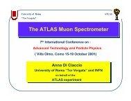The ATLAS Muon Spectrometer The ATLAS Muon ... - Villa Olmo - Infn