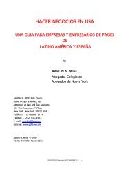 HACER NEGOCIOS EN USA - Gallet Dreyer & Berkey, LLP