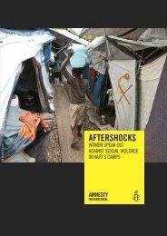 aftershocks - Amnesty International