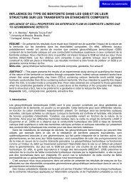 influence du type de bentonite dans les gsb et de leur structure sur ...
