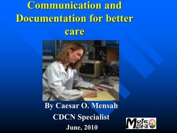 Communication and Documentation for better care - MOTEC LIFE-UK