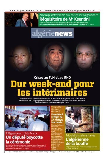 Fr-24-08-2013 - Algérie news quotidien national d'information