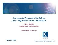 Incremental Response Modeling - INFORMS NY