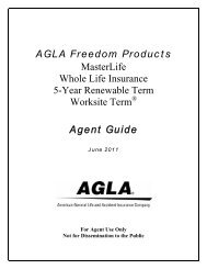 Agla Choice Performer Provider Agent Guide