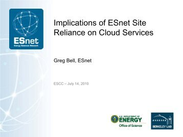 This is the Title Slide Arial 32 pt - ESnet