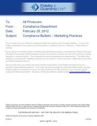 Compliance Bulletin – Marketing Practices - Supporting ...
