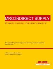 MRO - Indirect Supply White Paper - DHL