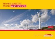Download our Wind Energy Logistics brochure - DHL