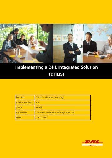 DHLIS7 - Shipment Tracking (v1.4)