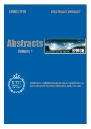 Abstracts - KTH Mechanics