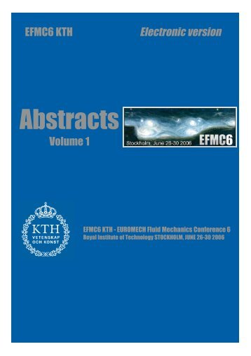 Abstracts - KTH Mechanics