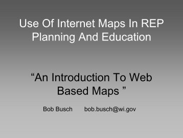 Session 16_Use of Internet Maps in REP ... - National REP