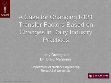 Open Forum_SLIDES_A Case for Changing I-131 Transfer ...