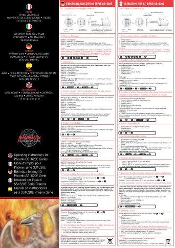 Phoenix Fire Fox SS1620E Manual - Safe Runner