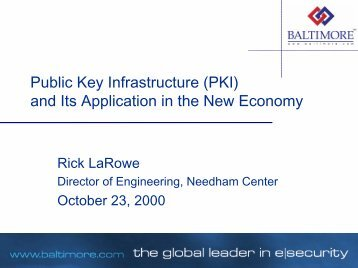 Public Key Infrastructure (PKI) and Its ... - Dematerialised ID