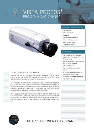 "VISTA CCTV Protos3 Pro Day Night Camera 1/2"" Day Night Camera ..."