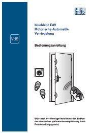 blueMatic EAV Motorische-Automatik- Verriegelung ...
