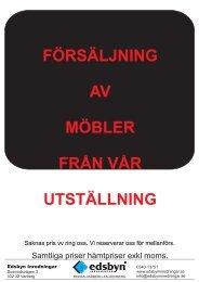 FÖRSÄLJNING VARBERG UTSTÄLLNING - Edsbyn Inredningar