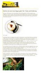 Politik, die durch den Magen geht: Fair  Trade und ... - Fairjobbing.net