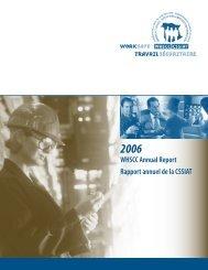 Rapport annuel de Travail sécuritaire NB - WorkSafeNB