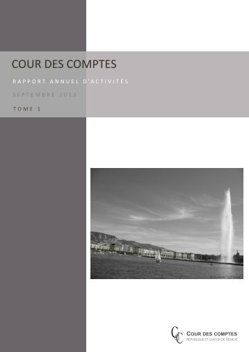 Consulter le rapport (tome 1) (PDF, 937 Ko) - Cour des comptes