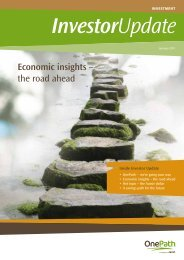 Economic insights – the road ahead - OnePath
