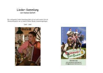 Lieder-Sammlung - Die ORIGINAL Passauer Bierbuam