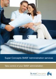 Super Concepts SMSF Administration services