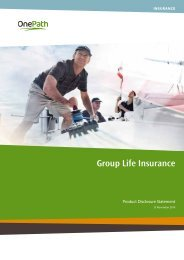 Product Disclosure Statement - Group Life Insurance - OnePath