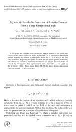 Asymptotic Results for Injection of Reactive Solutes from a ... - CAPDE