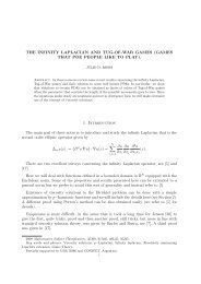 THE INFINITY LAPLACIAN AND TUG-OF-WAR GAMES ... - CAPDE