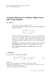 Asymptotic Behaviour of a Semilinear Elliptic System with ... - CAPDE