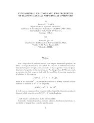 fundamental solutions and two properties of elliptic ... - CAPDE