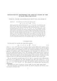 MONOTONICITY PROPERTIES FOR GROUND STATES ... - CAPDE