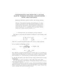 CONCENTRATING SOLUTIONS FOR A PLANAR ... - CAPDE