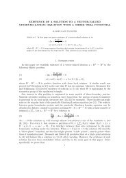 EXISTENCE OF A SOLUTION TO A VECTOR-VALUED ... - CAPDE