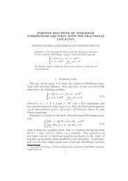 POSITIVE SOLUTIONS OF NONLINEAR SCHR¨ODINGER ... - CAPDE