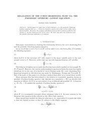 RELAXATION OF THE CURVE SHORTENING FLOW VIA ... - CAPDE