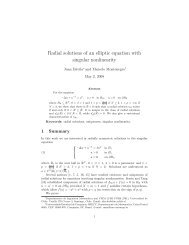 Radial solutions of an elliptic equation with singular ... - CAPDE