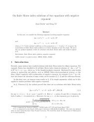 On finite Morse index solutions of two equations with ... - CAPDE