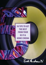 50 TIPS TO GET THE BEST FROM YOUR HI-FI & HOME CINEMA
