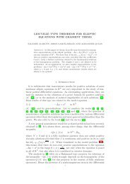 LIOUVILLE TYPE THEOREMS FOR ELLIPTIC ... - CAPDE