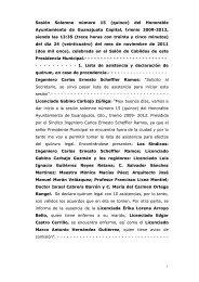 Sesión Solemne número 15 (quince) del Honorable ... - Guanajuato