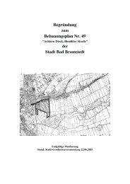 Begründung Bebauungsplan Nr. 49 Stadt Bad ... - bauleitplaene.de