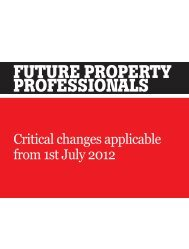 Future ProPerty ProFessionals - The Australian Property Institute