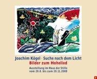 Joachim Kögel · Suche nach dem Licht Bilder zum Hohelied