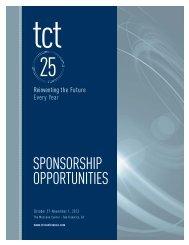 SponSorShip opportunitieS - TCT